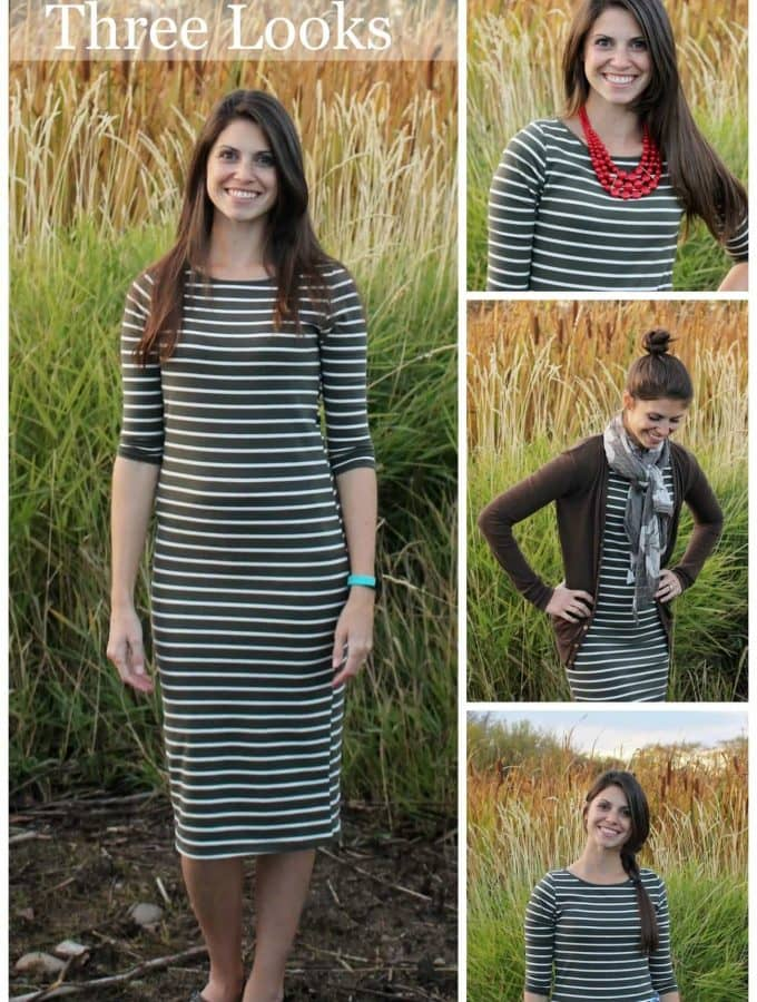 Fall Fashion: One dress, three looks!