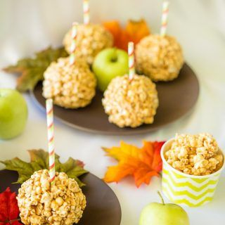 Caramel Apple Popcorn Balls Recipe