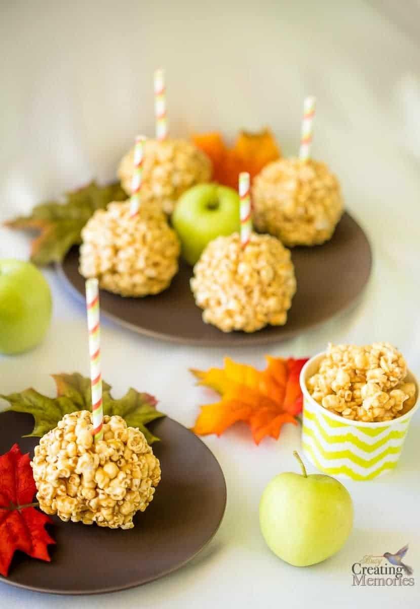 Caramel Apple Popcorn Balls Recipe
