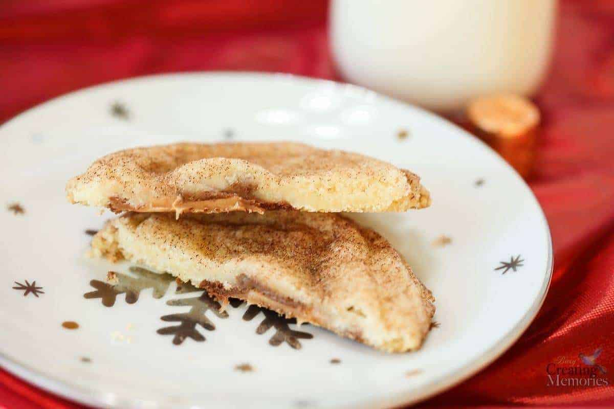 Easy Rolo Snickerdoodle Cookies for simple Holiday Baking