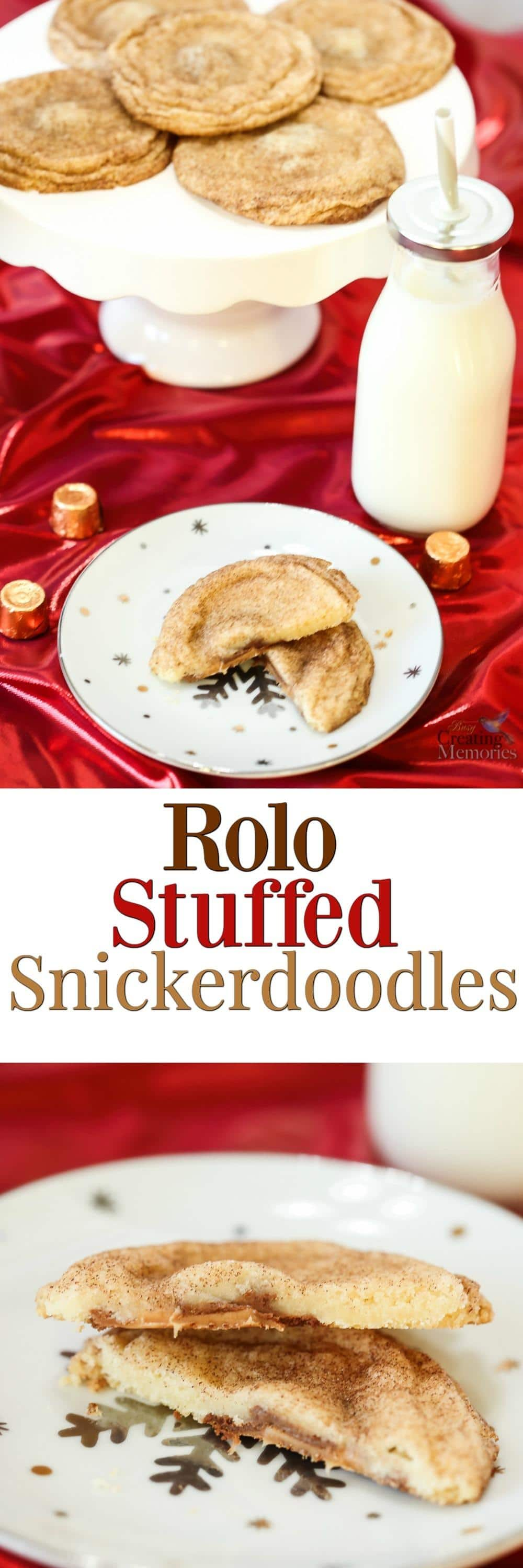 Love holiday baking but don't have the time to cook from scratch? This Holiday Baking hack gets fancy Rolo snickerdoodle cookies in a fraction of the time!