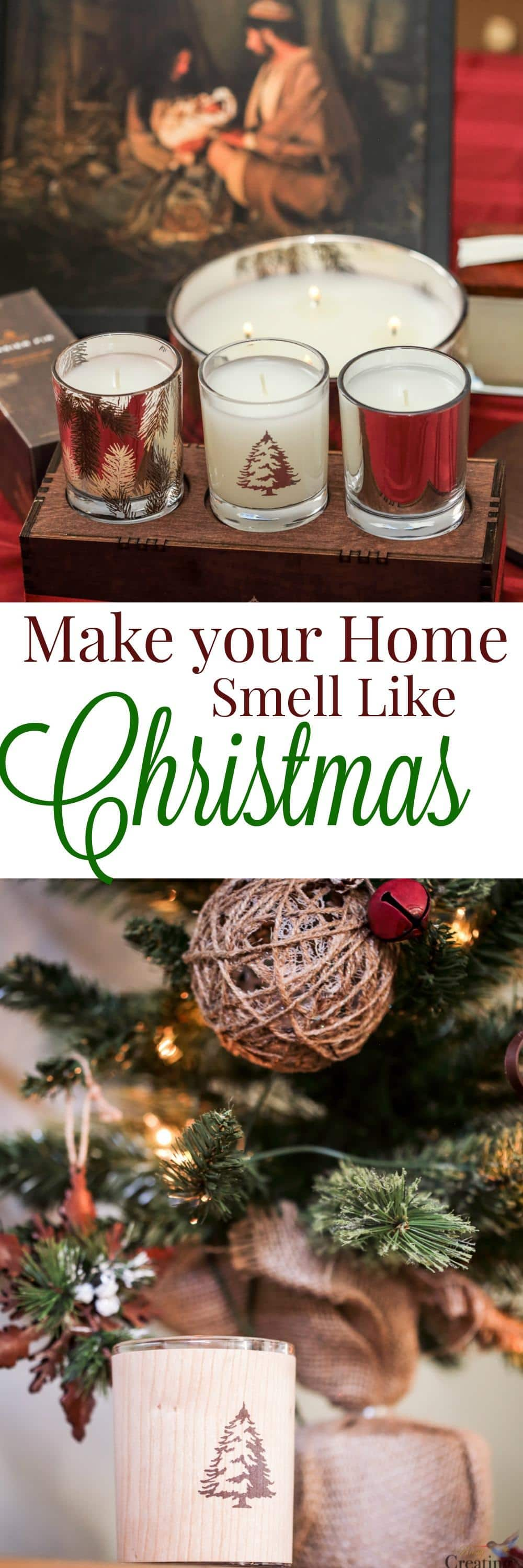The best scent of Christmas is the Christmas Tree fragrance. With Thymes Frasier Fir candles you can make your home Smell like Christmas without the mess!