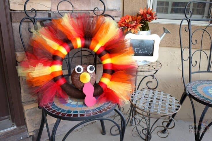 Thanksgiving Turkey Wreath craft