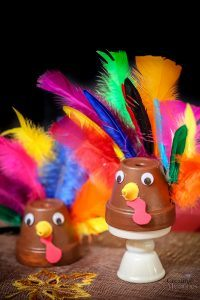 Easy Clay Pot Turkey Craft
