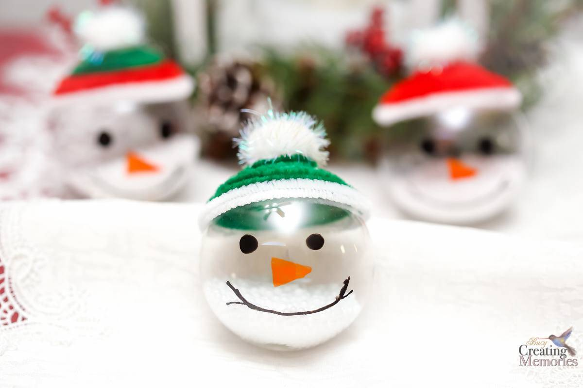 Easy Snowman Ornaments for Your Christmas Tree