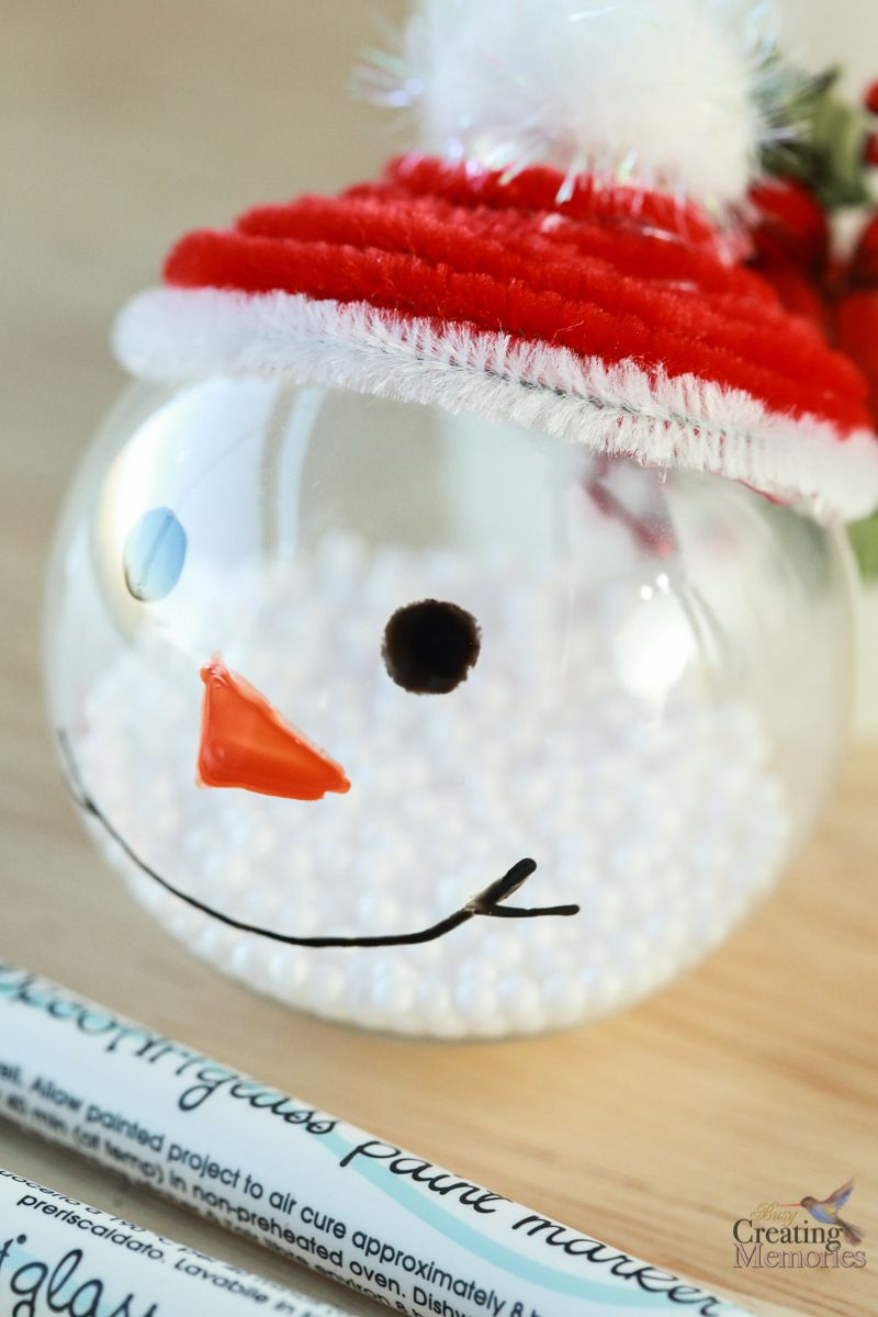 Easy Snowman Ornaments Tutorial