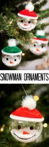 Easy Snowman Ornaments Tutorial