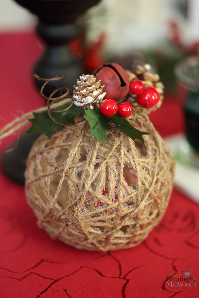 Rustic Christmas Ornaments Tutorial - Easy Glittered Twine ...