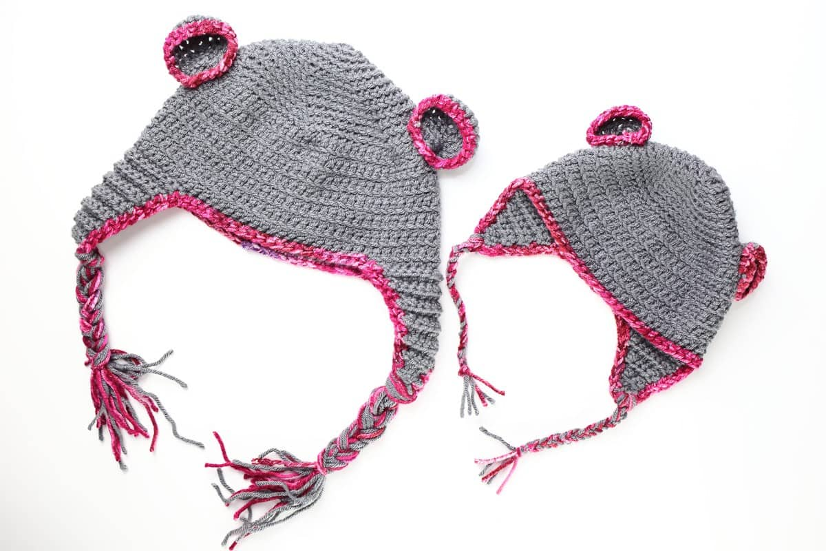 Easy Bear Crochet Baby Hat pattern + New Mom Gift Basket