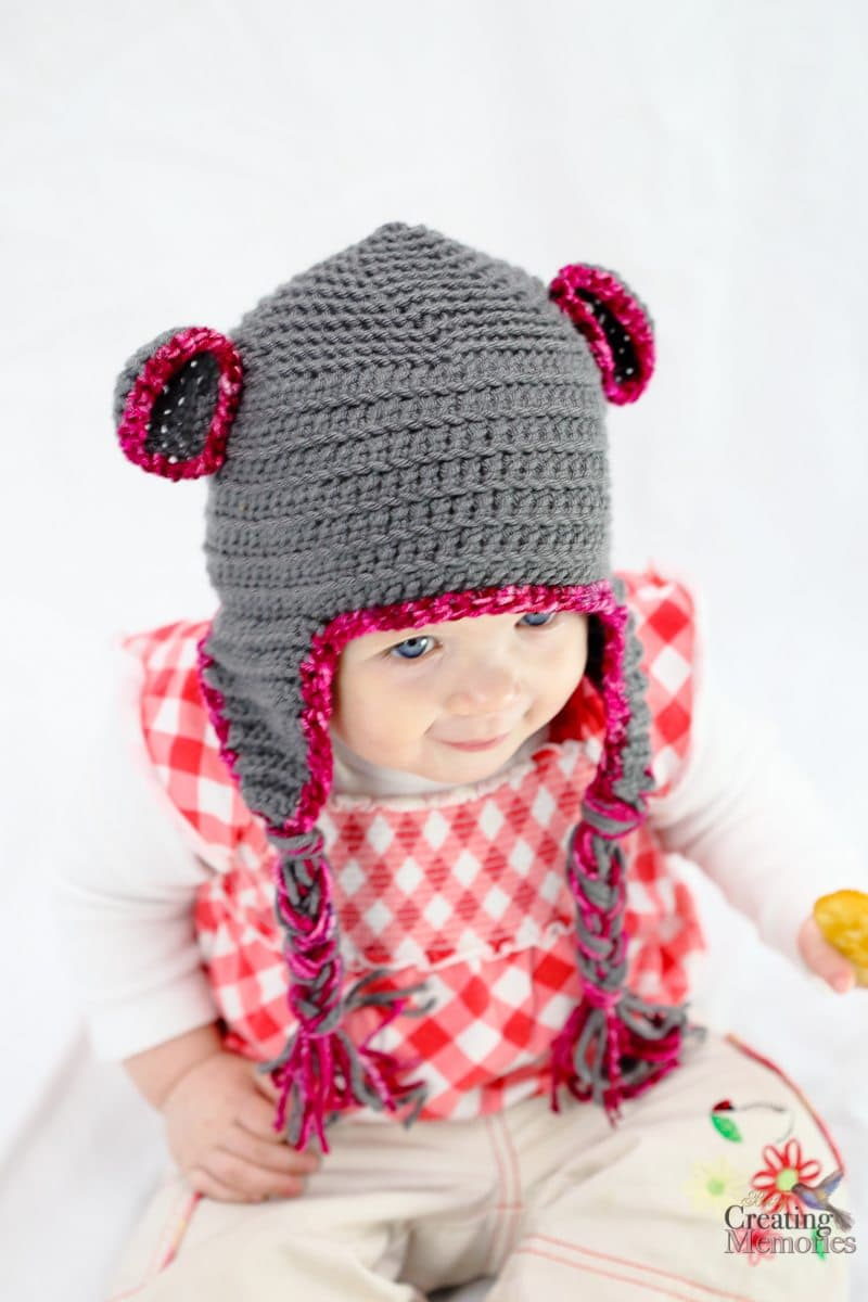 Crochet Baby Teddy Bear Hat Pattern : Easy Bear Crochet Baby Hat pattern + New Mom Gift Basket
