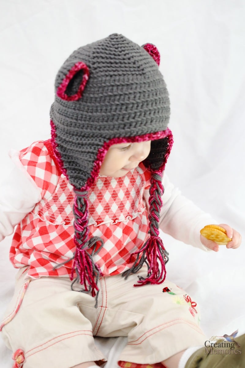 Easy Bear Crochet Baby Hat Pattern New Mom Gift Basket