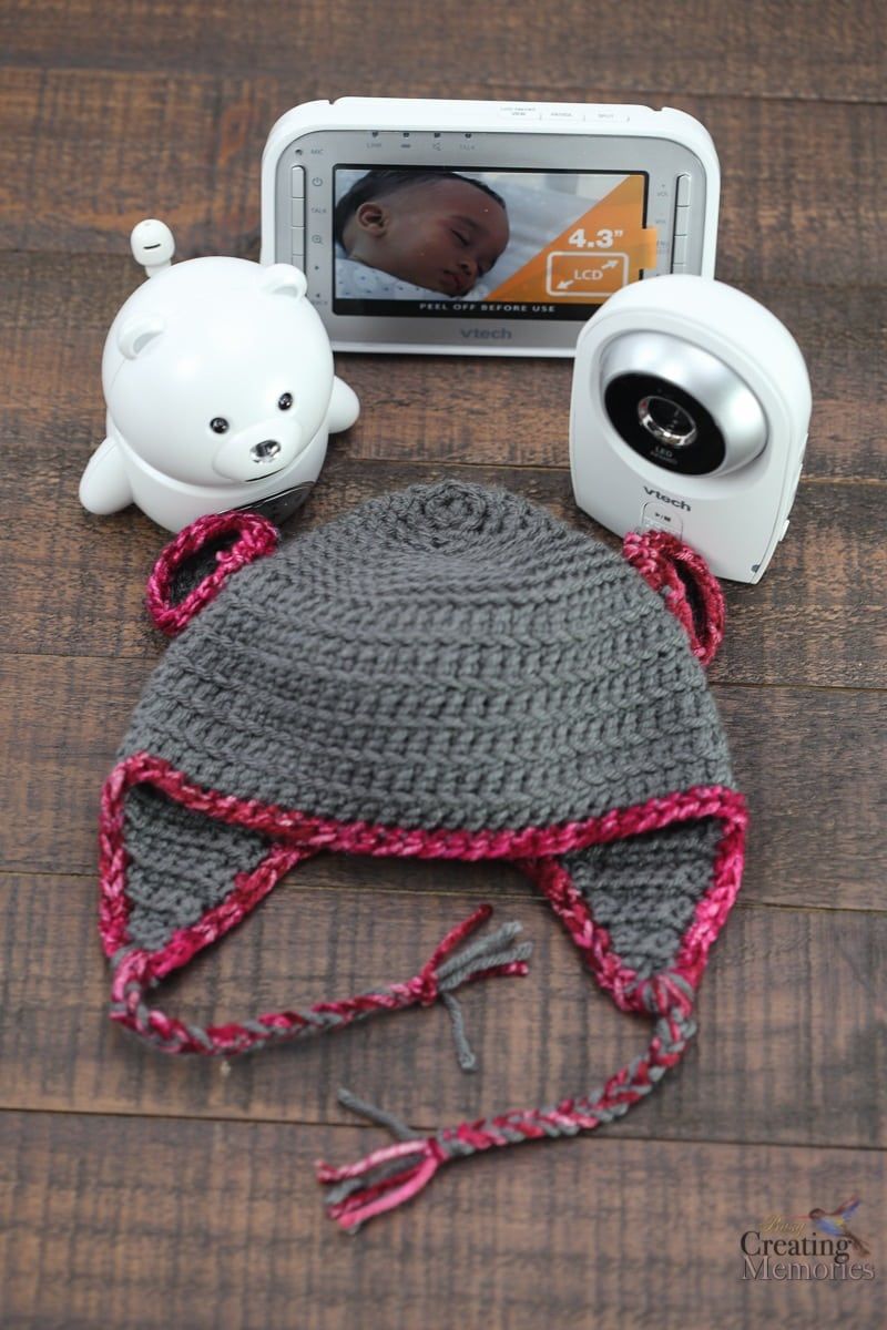 Easy Bear Crochet Baby Hat pattern