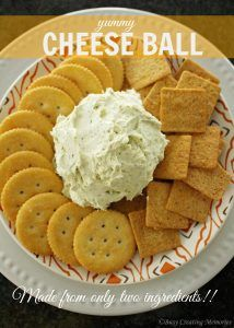 Two Ingredient Cheese Ball Recipe!