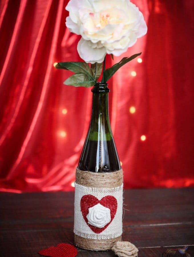 DIY Upcycled Bottle Vase