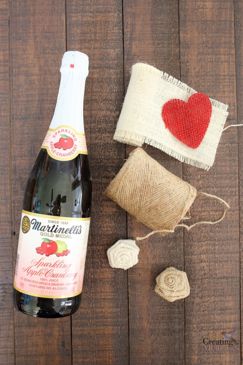 DIY Upcycled Bottle Vase Valentine's Day gift