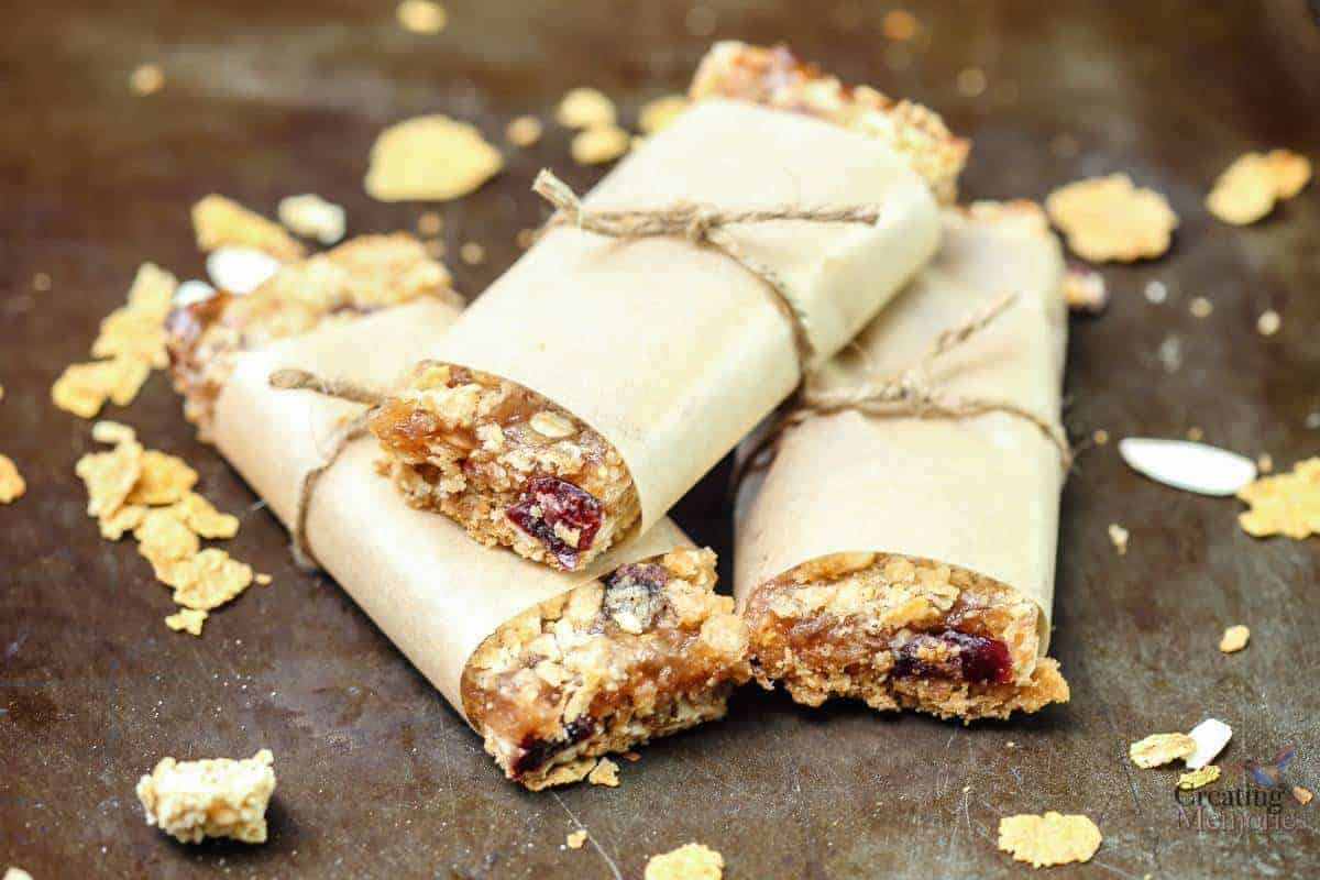 Wholesome Fruit Filled Breakfast Cereal Bars Recipe