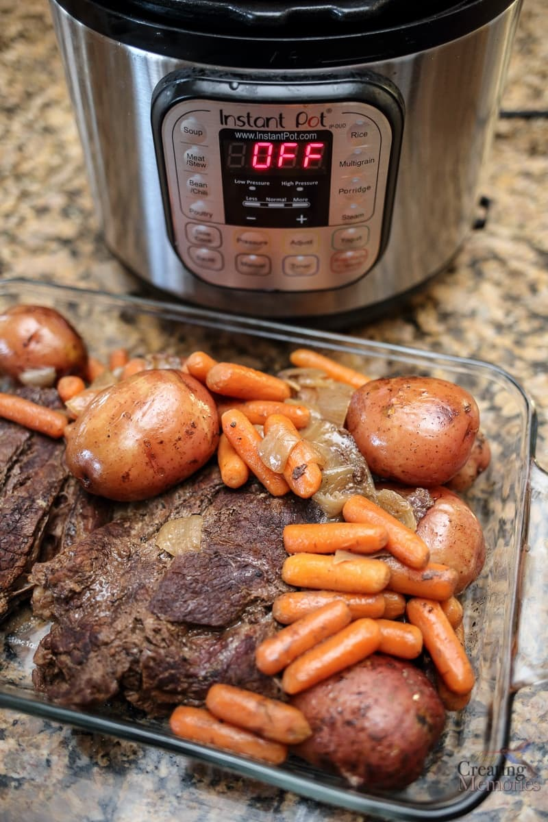 The Best Pressure Cooker Pot Roast & Gravy Recipe in one pot!