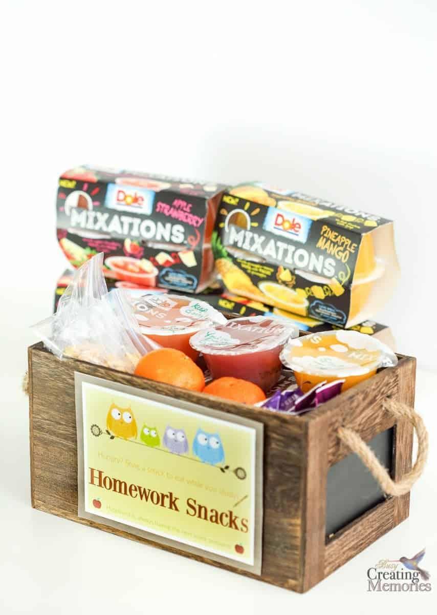 DIY Homework Snack Station + Printable