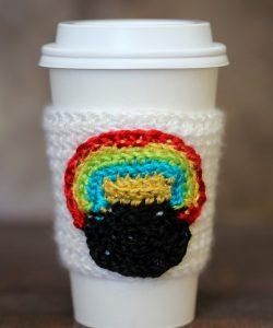 Pot of Gold Crochet Cup Cozy Pattern