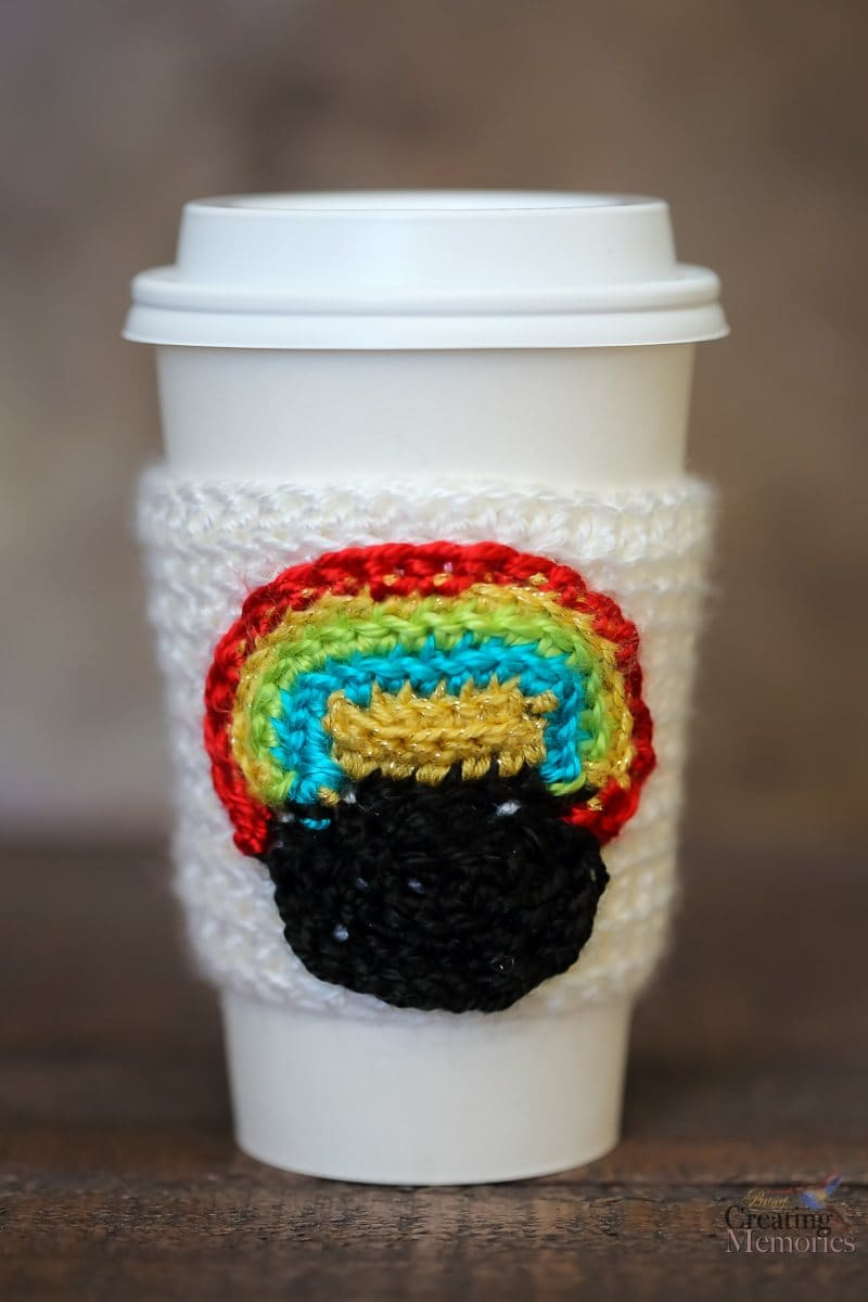 Pot of Gold Crochet Cup Cozy Pattern