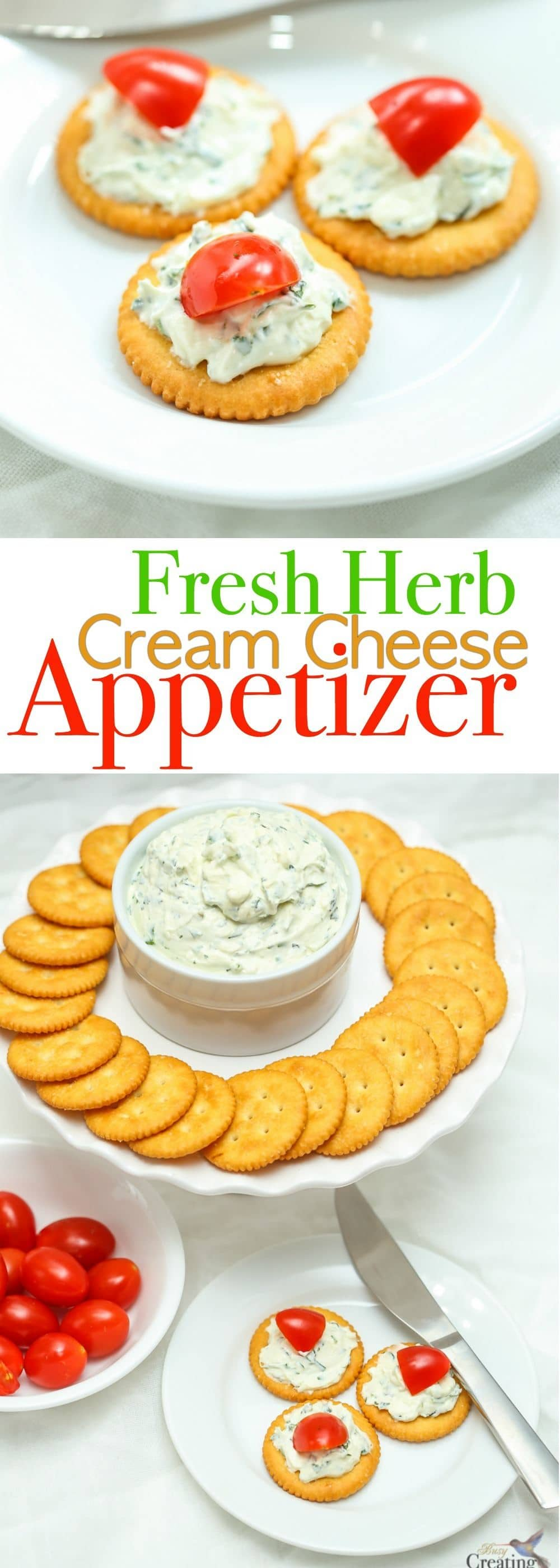 Discover easy entertaining with a simple DIY Herb Cream Cheese Spread recipe made with fresh herbs to spread on appetizers that your guests will love! This homemade spread is delicious on crackers, bread, vegetables or bagels. And can even be used as a chip dip!
