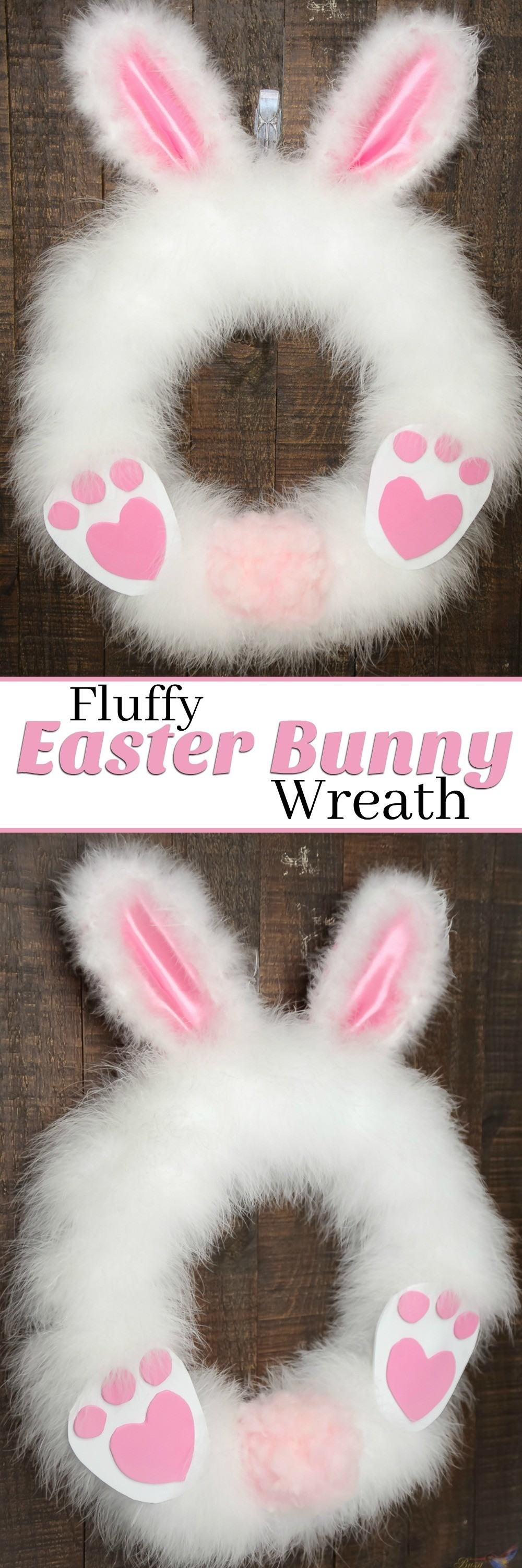 How to make a Fluffy Easter Bunny Wreath in under 30 minutes!