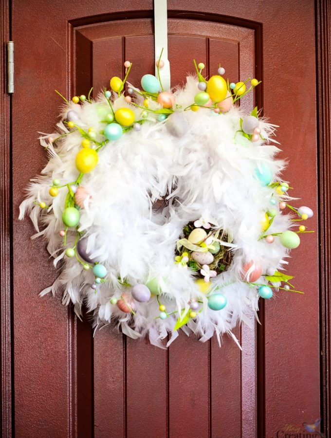 DIY Chic Feather Easter Wreath