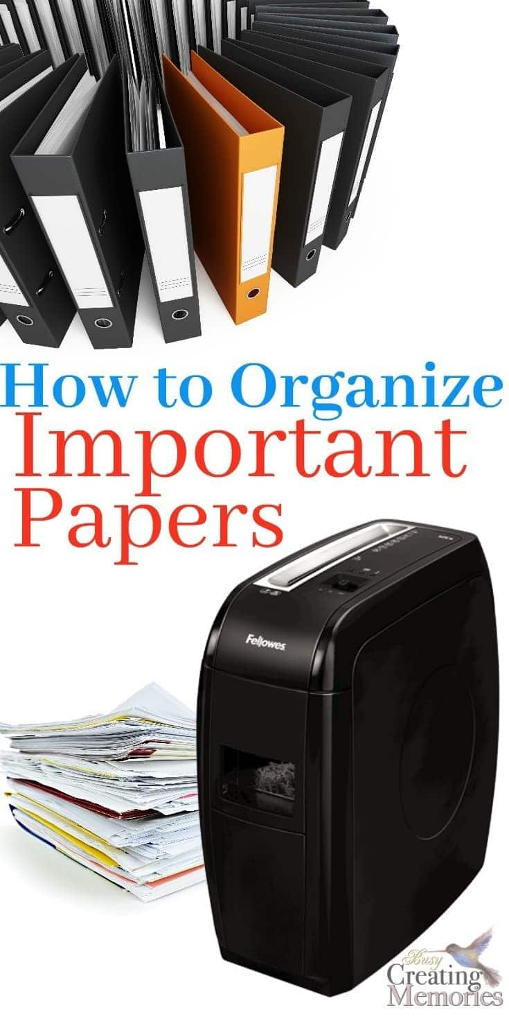 Keep all your important documents safe and organized with only 4 tricks. This Simple DIY Filing system shows how to organize important papers for short term & Long term storage to eliminate paper clutter at home! Plus tips on what to keep and what to shred!