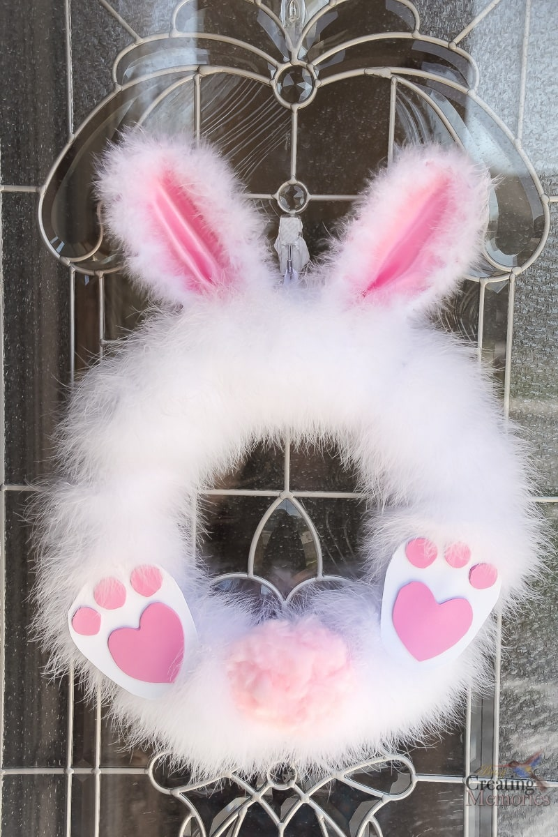 How To Make A Fluffy Easter Bunny Wreath In Under 30 Minutes