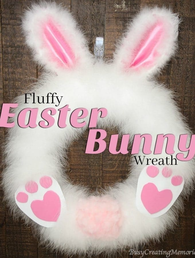 DIY Fluffy Easter Bunny Wreath
