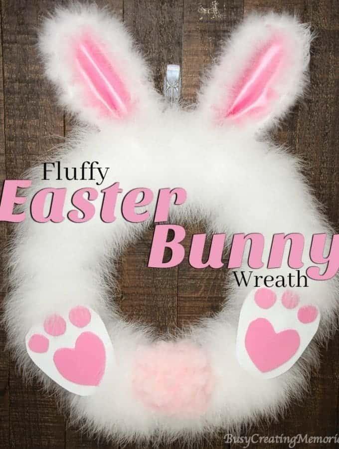 DIY Fluffy Easter Bunny Wreath