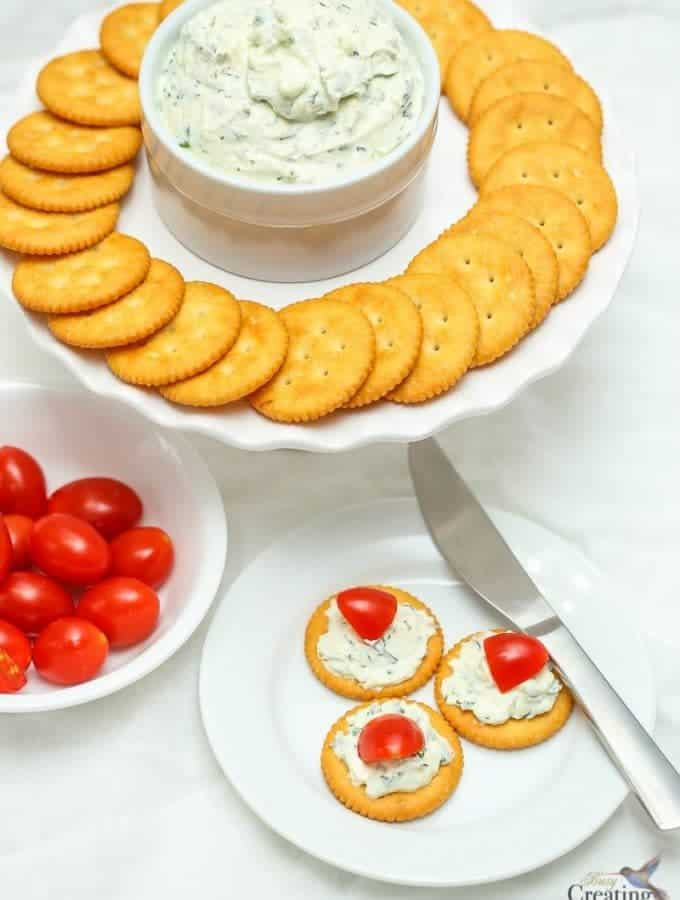 Easy Herb Cream Cheese Spread Recipe and Delicious Spring Appetizers