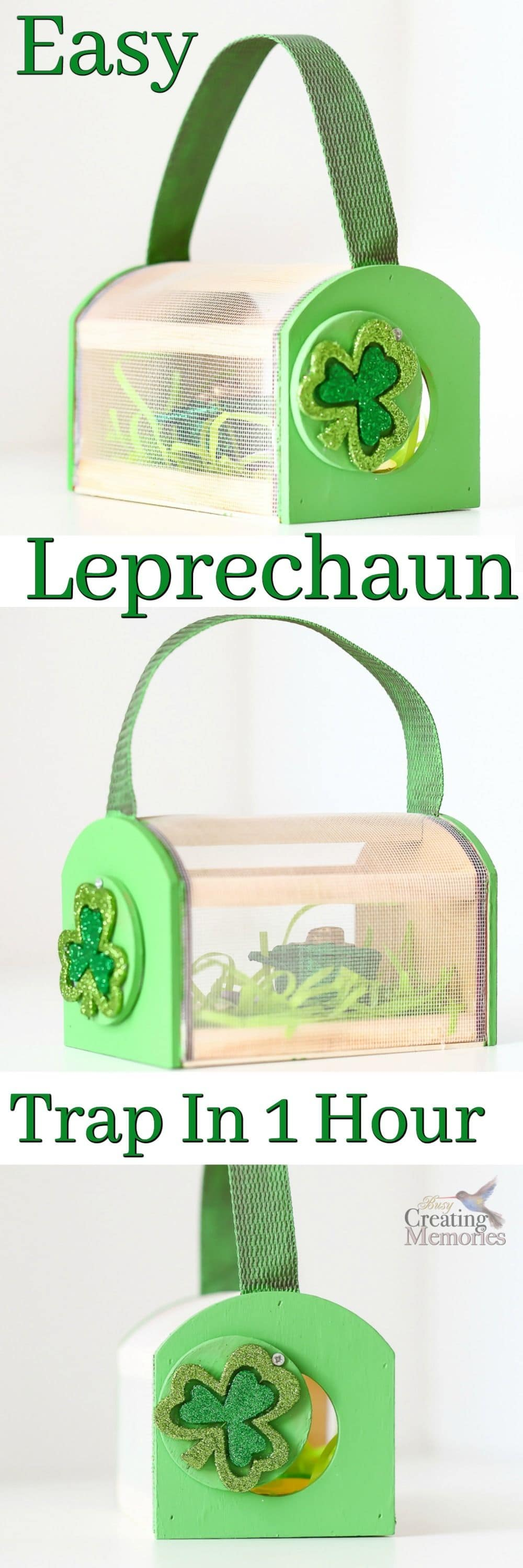 Bring the magic of St Patricks Day to life with our Easy Leprechaun Trap project for kids! Step-by-step directions on how to build an awesome leprechaun trap in under an hour! Especially great idea when you have a Mom fail like I did and forget about the school projects due the next day!
