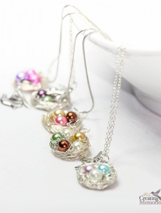 DIY Bird Nest Necklace Tutorial
