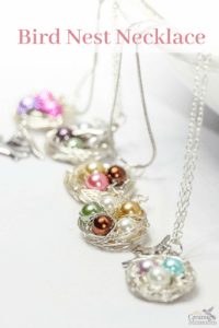 Beautiful DIY Bird Nest Necklace in under 30 minutes