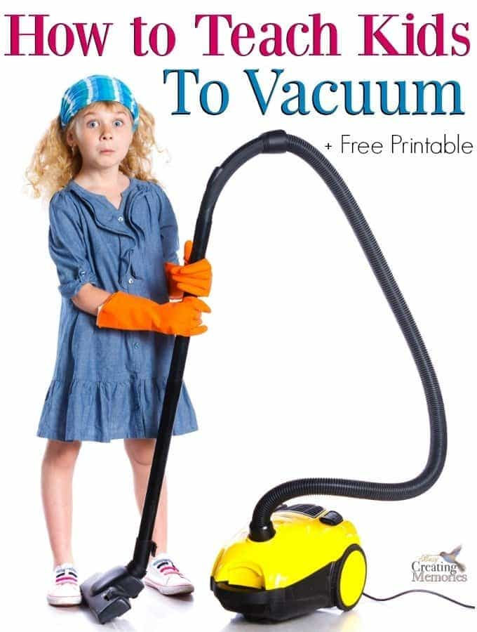 How to Teach kids How to Vacuum Carpet