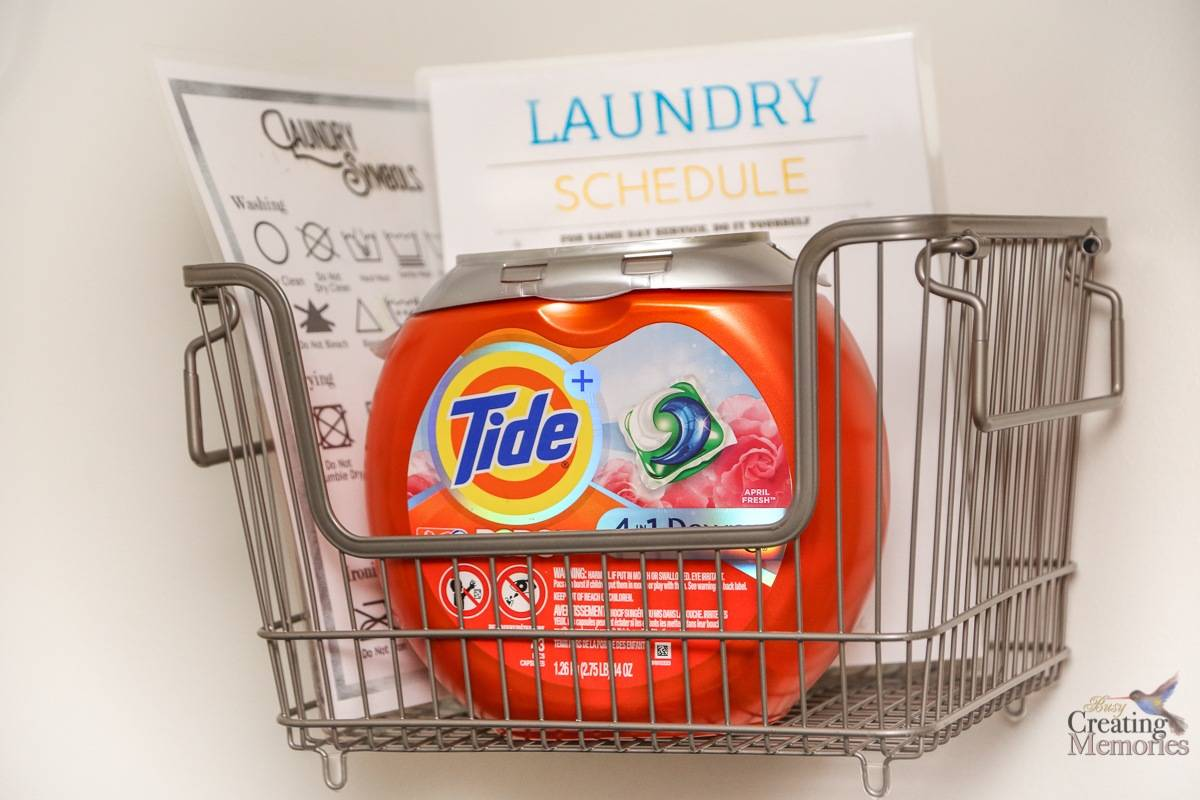 Laundry Room Hacks + Free Laundry Schedule Printable