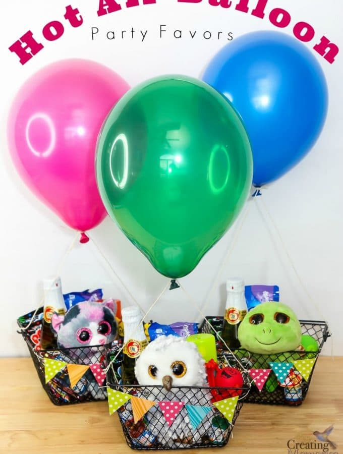 DIY Easy Hot Air Balloon Party Favors