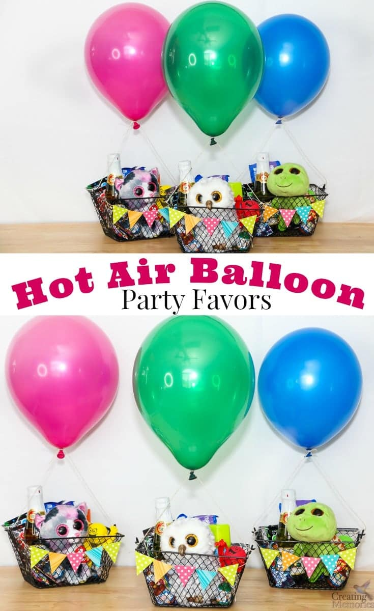 UP Up And Away Hot air Balloon Party Favors