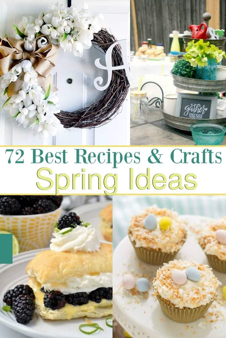 Shake off the dredge of winter and be inspired by these amazingly fresh Spring ideas! Enjoy this collaboration of Spring Recipes and Crafts!