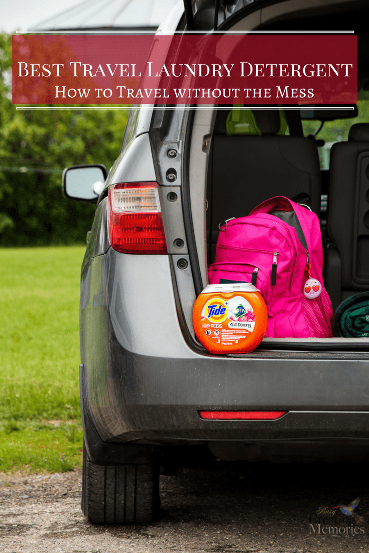 Save space in your luggage on your family road trip by washing clothes along the way. See the top 3 reasons why Tide Pods are the best travel Laundry Detergent and how to travel without the mess. #TideThat AD