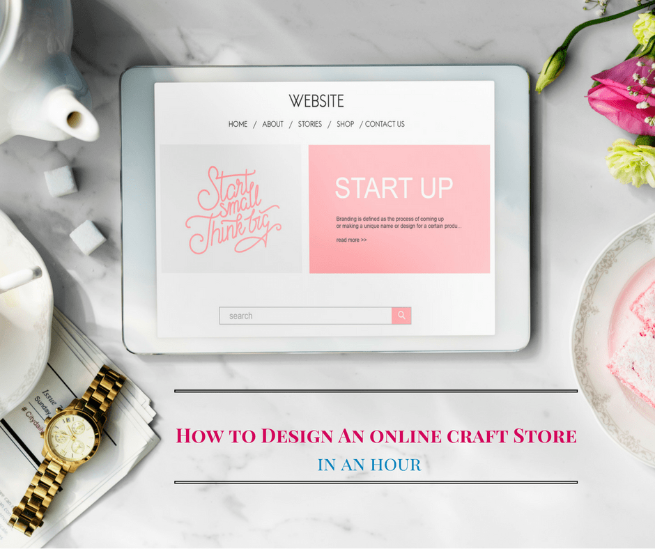 How to create an online craft store in under an hour