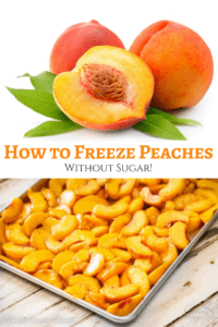 How to freeze Peaches without Sugar for fresh peaches flavor year round.