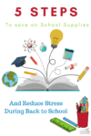 Top 5 steps to Save Money on School Supplies