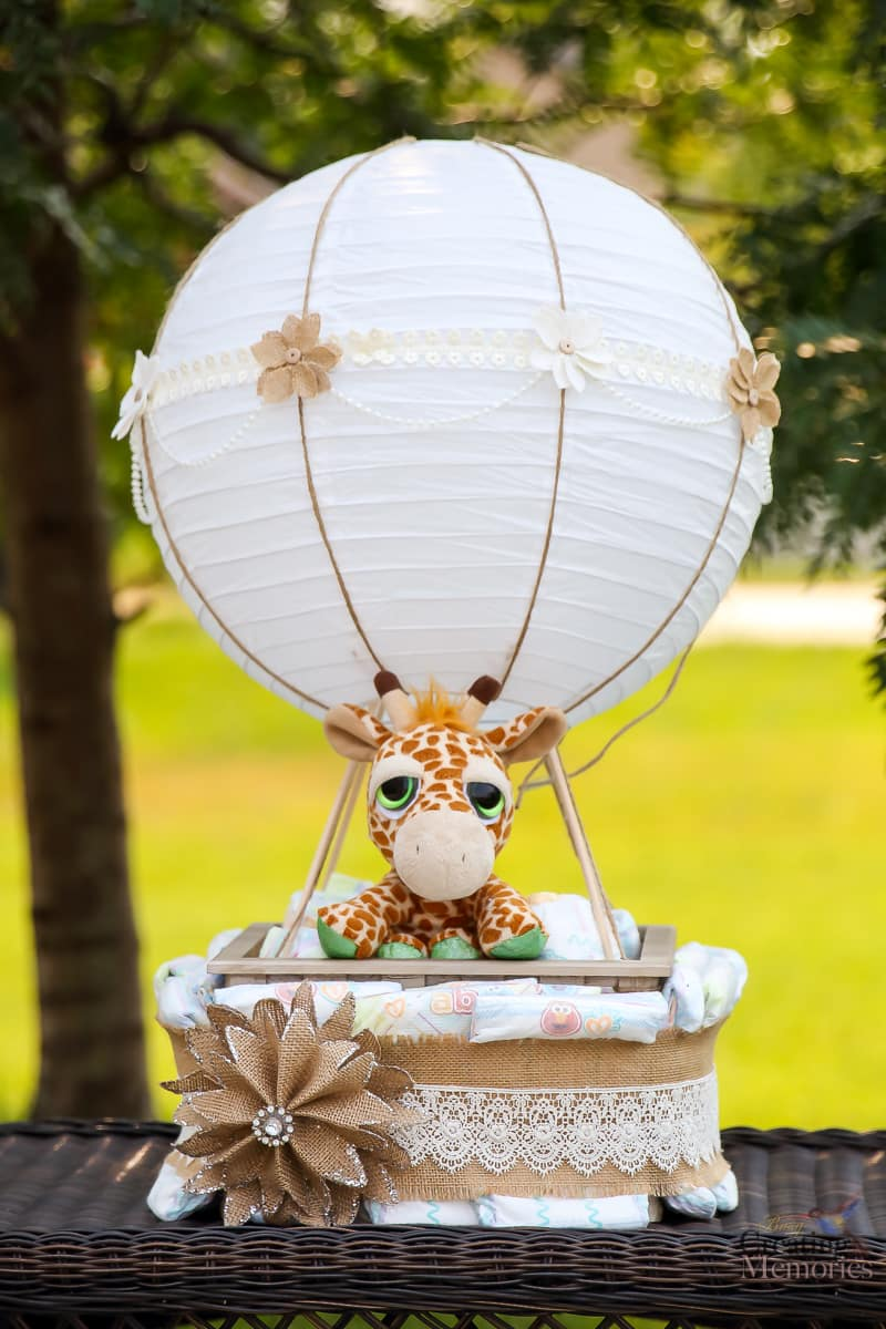 Easy Hot Air Balloon Diaper Cake for a