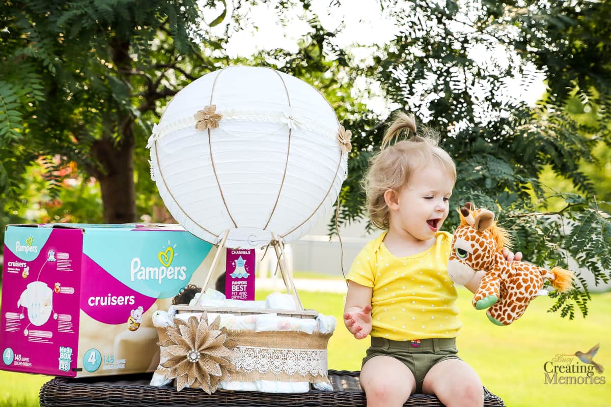 Easy Hot Air Balloon Diaper Cake for a fabulous Baby shower