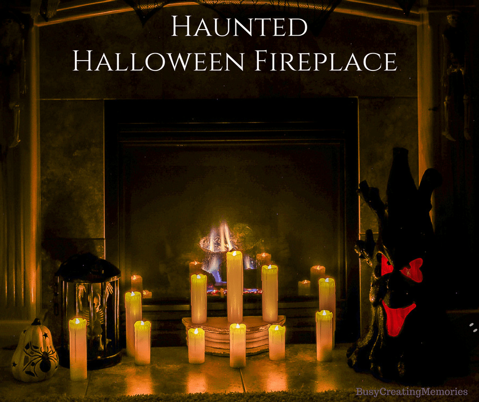 Spooky Halloween Fireplace Mantel Ideas: Decor for Mantels of all Colors