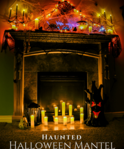 Haunted Halloween Fireplace Mantel Ideas