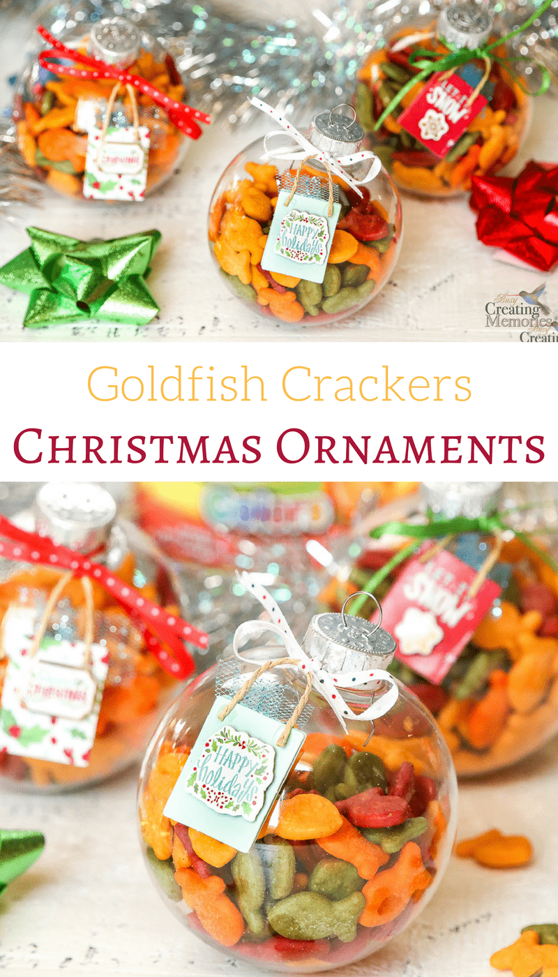 Need a fun idea to keep kids busy this Holiday season? Make a fun DIY Goldfish Cracker Kids Christmas Ornament that is engaging & offers a delicious snack all in one simple 10-minute craft activity.