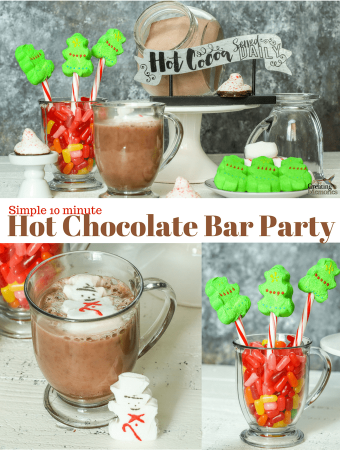 Super Easy Hot Chocolate Bar Party for Kids